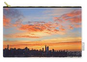 New York Skyline Sunrise Clouds And Color Carry-all Pouch