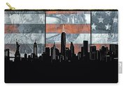 New York Skyline Usa Flag 5 Carry-all Pouch