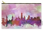 New York Skyline Watercolor 3 Carry-all Pouch
