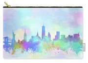 New York Skyline Watercolor 7 Carry-all Pouch