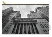 New York Stock Exchange Black And White Carry-all Pouch