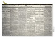 New York Times, 1864 Carry-all Pouch