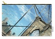 New York Usa  Brooklyn Bridge Towards Manhattan. Carry-all Pouch
