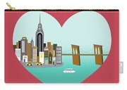 New York Vertical Skyline - Heart Carry-all Pouch