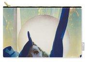 New York, World Fair, Firework, Woman In Blue Dress Carry-all Pouch