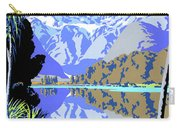 New Zealand Lake Matheson Vintage Travel Poster Carry-all Pouch