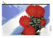 New Zealand Rata Blossom Vintage Travel Poster Carry-all Pouch