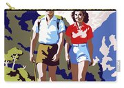 New Zealand Vintage Travel Poster Restored Carry-all Pouch