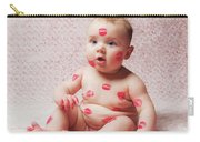 Newborn Baby Gir Filled Kisses Carry-all Pouch