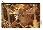 Newly Born Fawn Hiding In A Saskatchewan Field Carry-all Pouch