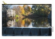 Newton Upper Falls Autumn Waterfall Reflection Carry-all Pouch