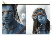 Neytiri And Jake - Gently Cross Your Eyes And Focus On The Middle Image Carry-all Pouch