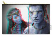 Neytiri And Jake Sully - Use Red-cyan 3d Glasses Carry-all Pouch