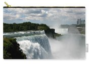 Niagara Falls American And Canadian Horseshoe Falls Carry-all Pouch