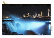Niagara Falls At Night - Blue Carry-all Pouch