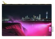 Niagara Falls At Night - Pink Carry-all Pouch