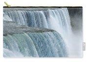 Niagara Falls Closeup Charcoal Effect Carry-all Pouch