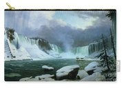 Niagara Falls Carry-all Pouch by Hippolyte Victor Valentin Sebron