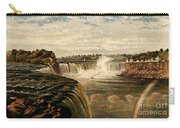 Niagara Falls With Rainbow, 1860 Carry-all Pouch