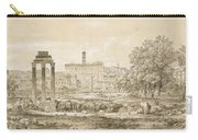 Nicolas-didier Boguet   1755 - 1839   View Of The Roman Forum With The Temple Of Castor Carry-all Pouch
