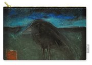 Night Bird With Red Square Carry-all Pouch