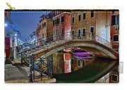 Night Bridge In Venice Carry-all Pouch