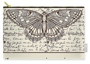 Night Butterfly On Old Letter Carry-all Pouch