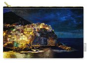 Night Comes To Manarola - Vintage Version Carry-all Pouch