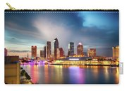 Night Downtown River Carry-all Pouch