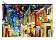 Night Etude - Palette Knife Oil Painting On Canvas By Leonid Afremov Carry-all Pouch