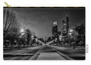 Night Falls On The City - Philadelphia - Black And White Carry-all Pouch