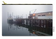 Night Fog Along The Dock Carry-all Pouch by Bob Orsillo