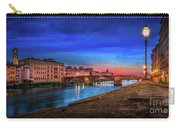 Night In Florence Italy Carry-all Pouch