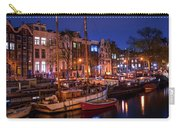 Night Lights On The Amsterdam Canals 7. Holland Carry-all Pouch