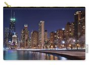 Night Lights On The Lakefront Carry-all Pouch