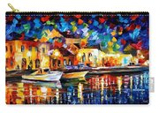 Night Riverfront - Palette Knife Oil Painting On Canvas By Leonid Afremov Carry-all Pouch