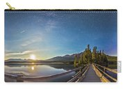 Night Sky Panorama Of Pyramid Lake Carry-all Pouch