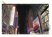 Night Time At Times Square Carry-all Pouch