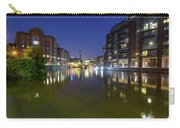 Night View Across River Avon To Temple Bridge Bristol England Carry-all Pouch