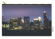 Night View Of Downtown Skyline In Winter Carry-all Pouch