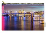 Night View Of Hungerford Bridge And Golden Jubilee Bridges London Carry-all Pouch