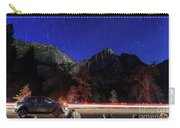 Night View Of The Upper And Lower Yosemite Fall Carry-all Pouch