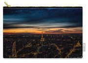 Night View Over Paris With Eiffel Tower Carry-all Pouch