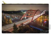 Nighttime Boats Cruise Up And Down The Loop 360 Bridge, A Boaters Paradise With Activities That Include Boating, Fishing, Swimming And Picnicking - Stock Image Carry-all Pouch
