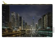 Nighttime Chicago River And Skyline View Carry-all Pouch