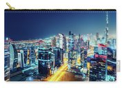 Nighttime Skyline Of Dubai, United Arab Emirates Carry-all Pouch