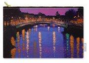 Nighttown Ha Penny Bridge Dublin Carry-all Pouch by John  Nolan