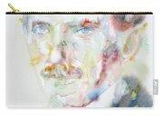 Nikola Tesla - Watercolor Portrait.3 Carry-all Pouch
