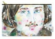Nikolai Gogol - Watercolor Portrait Carry-all Pouch