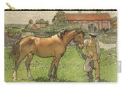 Nils Kreuger, 1858-1930, Brunte Picked Up On Sunday Morning Carry-all Pouch